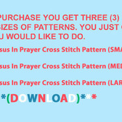 ( CRAFTS )  Jesus In Prayer Cross Stitch Pattern***L@@K***Buyers Can Download Your Pattern As Soon As They Complete The Purchase