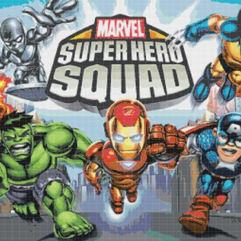 Cross stitch pattern marvel super hero squad 386*255 stitches CH878