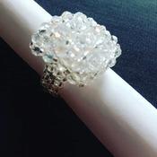 Handmade Crystal Square Ring Jewellery