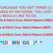 ( CRAFTS ) Lilo & Stitch Cross Stitch Pattern***L@@K***Buyers Can Download Your Pattern As Soon As They Complete The Purchase