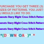 ( CRAFTS ) Peanuts Stary Night Cross Stitch Pattern***L@@K***Buyers Can Download Your Pattern As Soon As They Complete The Purchase