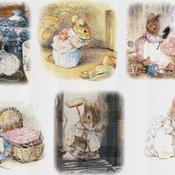 counted cross stitch pattern six scene hucca mucca Potter 331*220 stitches CH1151