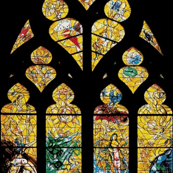 counted stitch pattern Chagall Metz Cathedral stained 354*499stitches CH2214