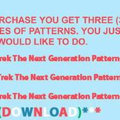 CRAFTS Star Trek The Next Generation Cross Stitch Pattern***LOOK***