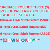 ( CRAFTS ) Wild Horses Cross Stitch Pattern***L@@K***Buyers Can Download Your Pattern As Soon As They Complete The Purchase