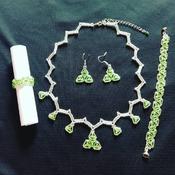 Handmade The One Heartbeat Necklace Bracelet Earring Ring Jewellery Set