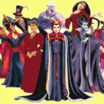 Counted Cross Stitch pattern disney villains 263 * 129 stitches CH1721