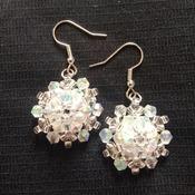 Handmade 3D Crystal Snowflake Earrings Jewellery