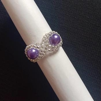 Handmade Pearl Eight Shape Ring Jewellery