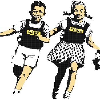 Counted Cross Stitch pattern banksy jack jill street art 275x172 stitches CH2356
