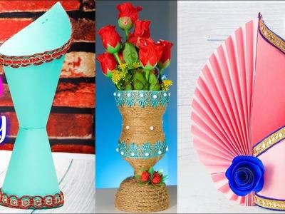 10 गुलदस्ता बनाने का तरीका   How to Make A Flower Vase At Home   Artkala