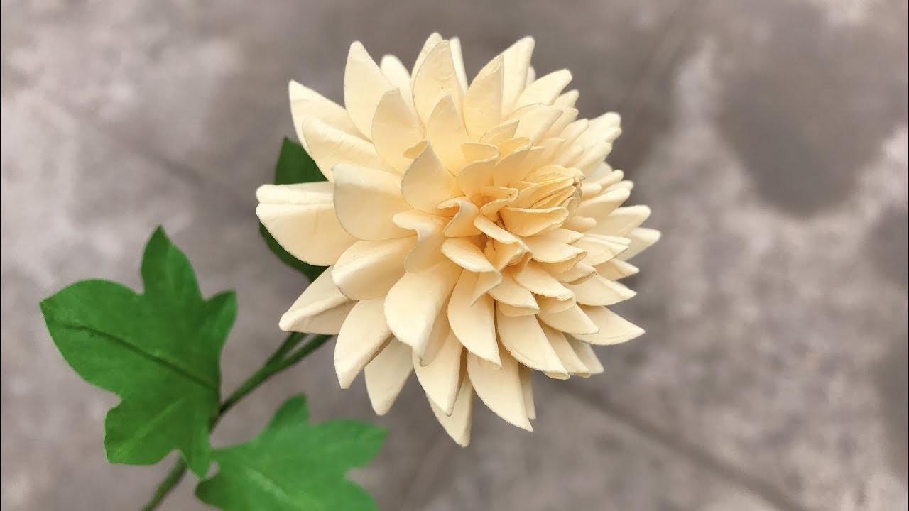 ABC TV | How To Make Easy Dahlia Paper Flower | Flower Die Cuts - Craft Tutorial