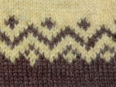 Attractive two colours knitting pattern for ladies.babies