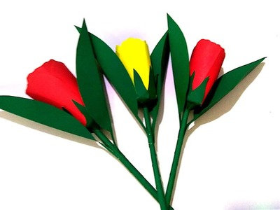 Beautiful paper craft.kaagaj.kaagaz ke phool kaise banaye 15.how to make beautiful paper flower