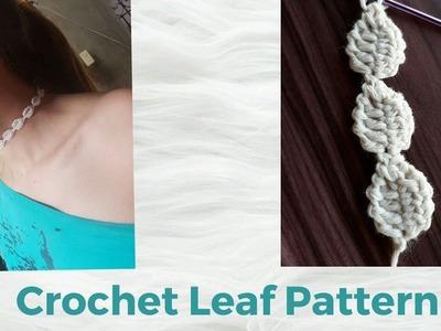 Crochet Leaf Pattern |tunisian crochet