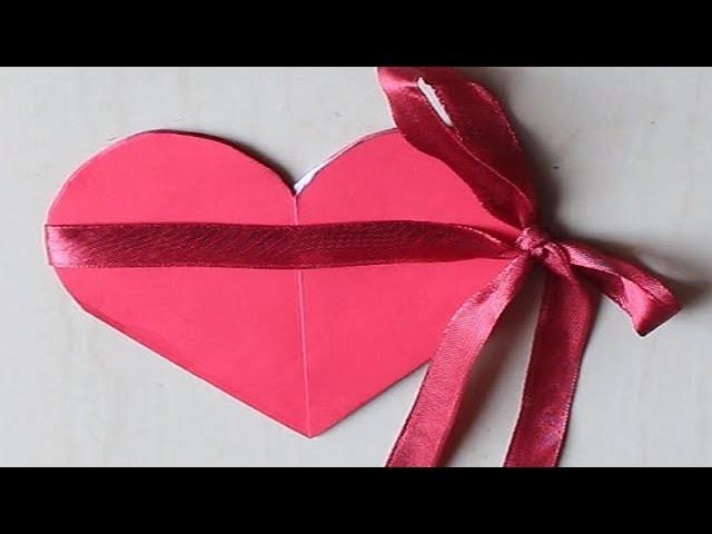 DIY - How to Make Heart Shape Card !!! Handmade Pop up Card. . .