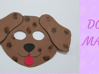 Dog mask| Puppy mask|How to make dog mask easily| School Craft|