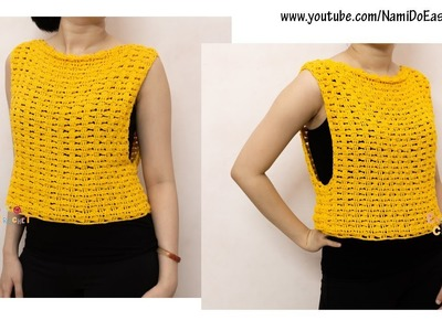 Easy Crochet for Summer: Crochet Tank Top #04