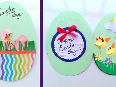 Easy Easter Cards to Make\\How to Make - Easter Egg Basket Spring Card