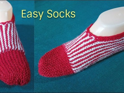 Easy Socks knitting for Beginners || in hindi