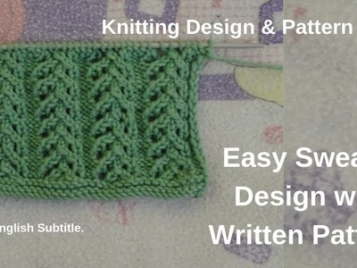 Easy sweater design in hindi 2019 with written pattern by  knitting design pattern idea.