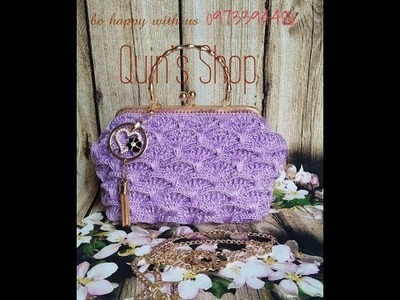 [ENGSUB] Crochet bag frame Size 20cm from shell textured stitch part 2.3