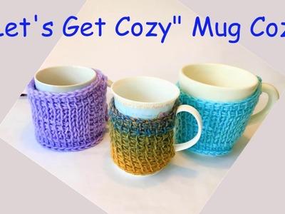 Free Tunisian Crochet Pattern - Mug Cozy - Let's Get Cozy