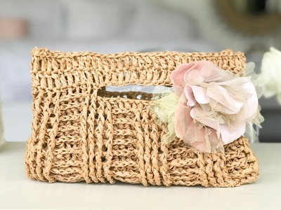 How To Crochet A Clutch Purse. Learn The Basketweave Stitch FPDC BPDC