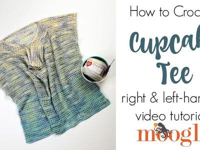 How to Crochet: Cupcake Tee (Left Handed)