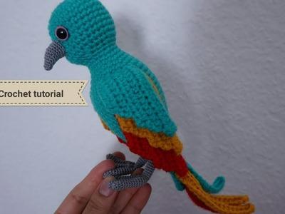 How to crochet Parrot amigurumi. crochet tutorial #1