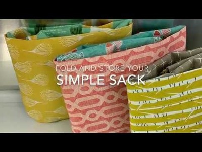 How to Fold and Store your Simple Sack