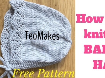 How to knit a BABY HAT | TeoMakes