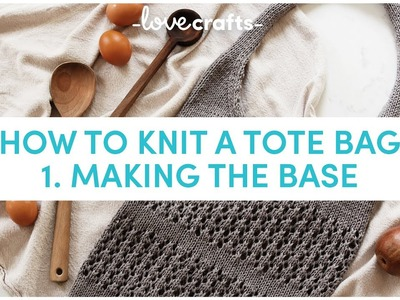 How to Knit a Market Tote Bag ????| Making the Base