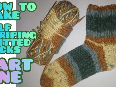 How to Knit Self Striping Socks [part one]
