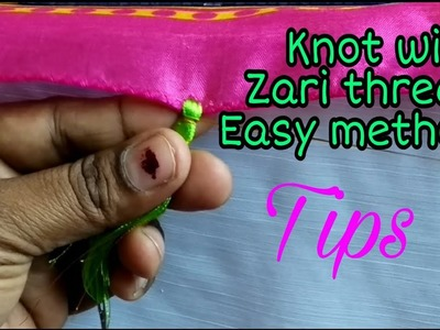 How to knot kuchu with zari thread- tips and tricks