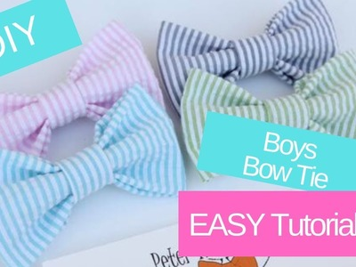 How To Make A Bow Tie | How To Make A Boys Bow Tie | DIY Boys Clip on Bow Tie