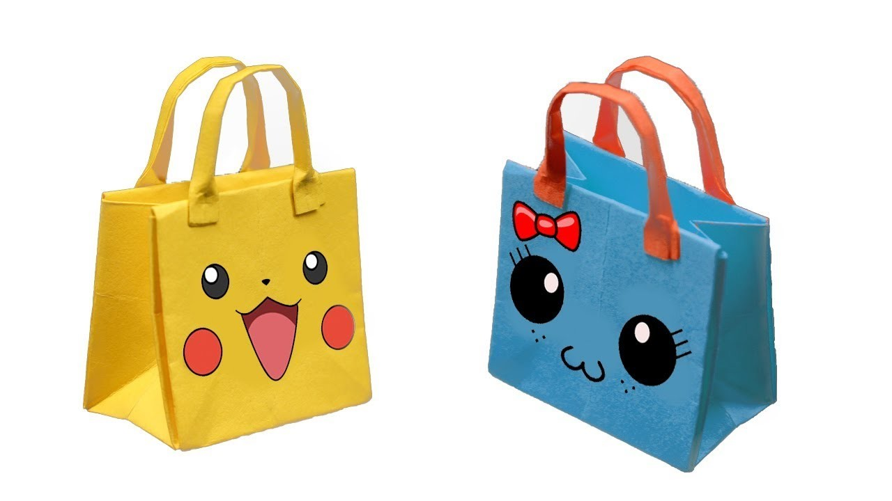 How to make a Cute Paper Bag - Origami Paper bag