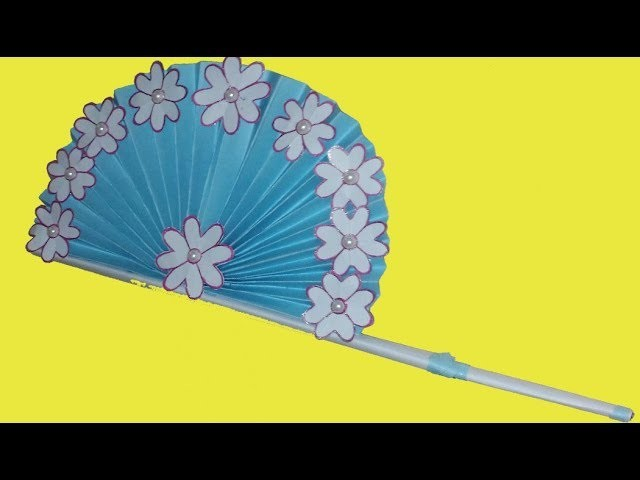How to make a hand fan with art paper | Tip Tap