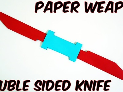 How to make a Paper Double Sided Knife (EASY) PAPER WEAPONS