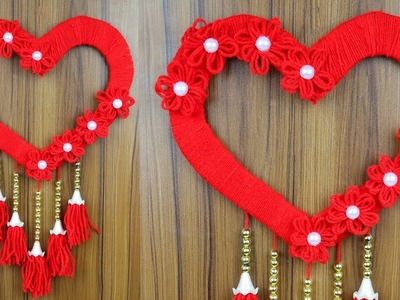 How to make a woolen wall hanging for home decoration | Woolen Craft Ideas
