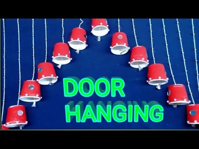 How To Make Beautiful Door.Wall Hanging With Disposable Tea Cups || Best Out of Waste | #jhumar