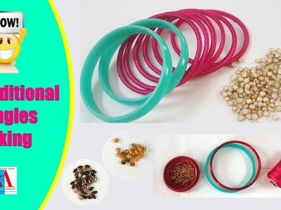 How to make Beautiful Silk Thread Bangles new designs. Silk Thread Bangles making tutorial
