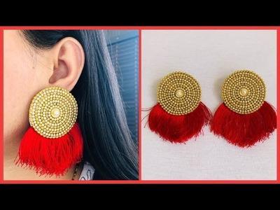 How To Make Designer Earrings At Home | Trendy Bridal Earrings | Jewelry Making