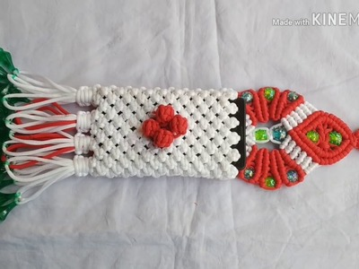 How to make macrame handmade phone holder.