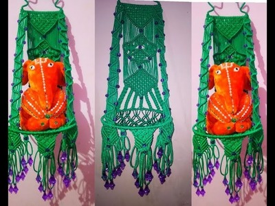 How to make macrame teddy jhula new design at home