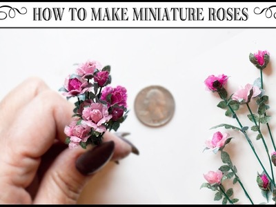 ????How to Make Miniature Roses from Tracing Paper????