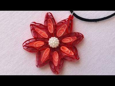 How To Make Paper Quilling Pendant At Home | Quilling Jewelry Making | Creative V