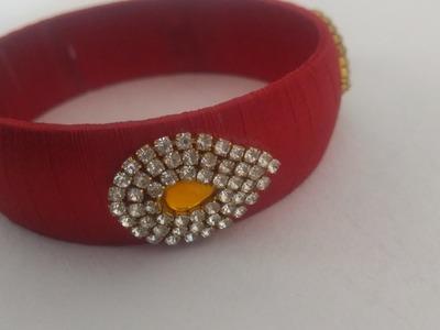 How to make silk thread bangles at home for beginners.designer silk thread kada bangle.diy.partywear