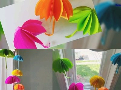 How to make umbrellas.Room decorations for kid.Fun craft for kid