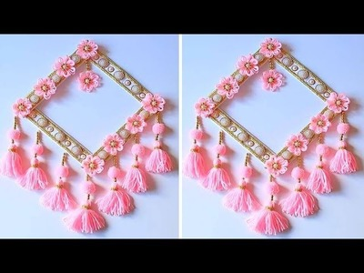 How To Make Wall Hanging for Room Decor.Best Out of Waste Woolen Door Hanging.Woolen Craft Idea